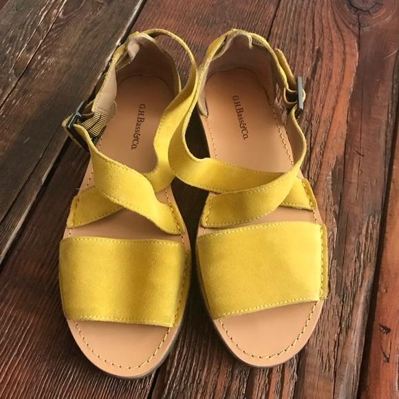 4d3507549faef Bass Shoes - G. H. Bass   Co. Sandals Mustard Yellow 7 ...